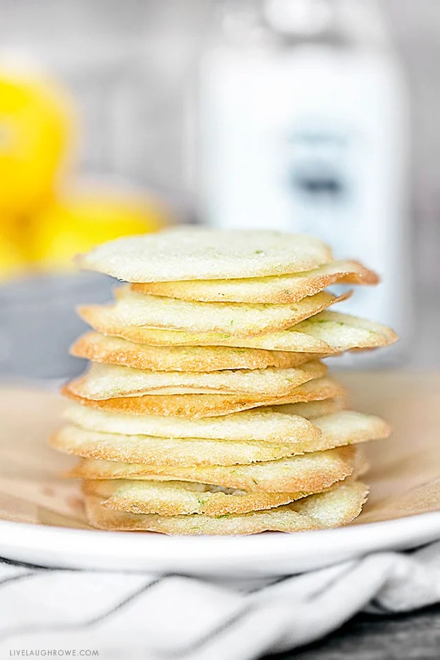 These Lemon Lime Cookie Crisps are ultra-thin, flavorful and super crunchy. A Weight Watchers Cookie Recipe that will help you satisfy your sweet tooth with less guilt! Recipe at livelaughrowe.com
