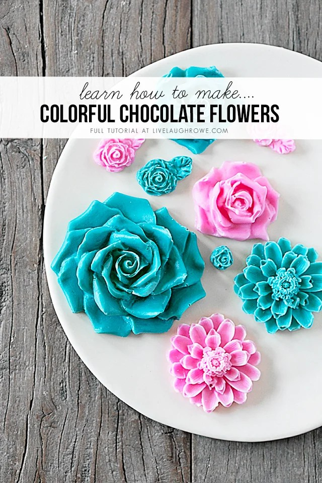 colorful chocolate flowers