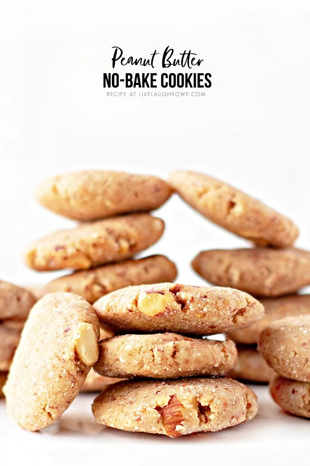 These Keto Peanut Butter No-Bake Cookies are a sweet and peanut buttery delicious low-carb snack. You can't beat a recipe that can be made in 10 minutes either! Recipe at livelaughrowe.com