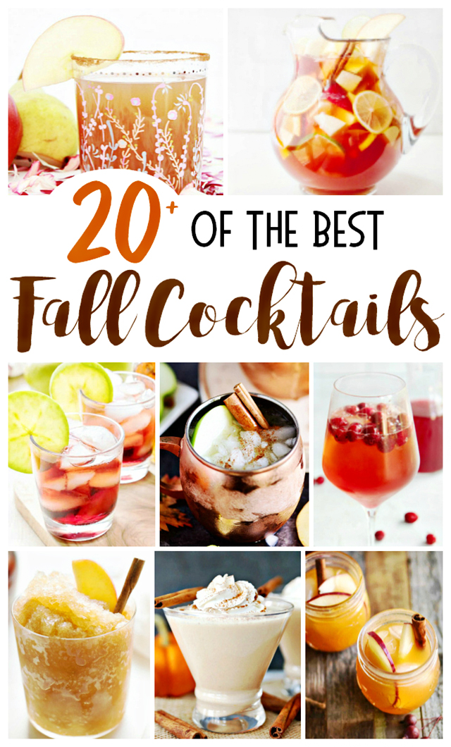 Collage of Fall Cocktail Photos