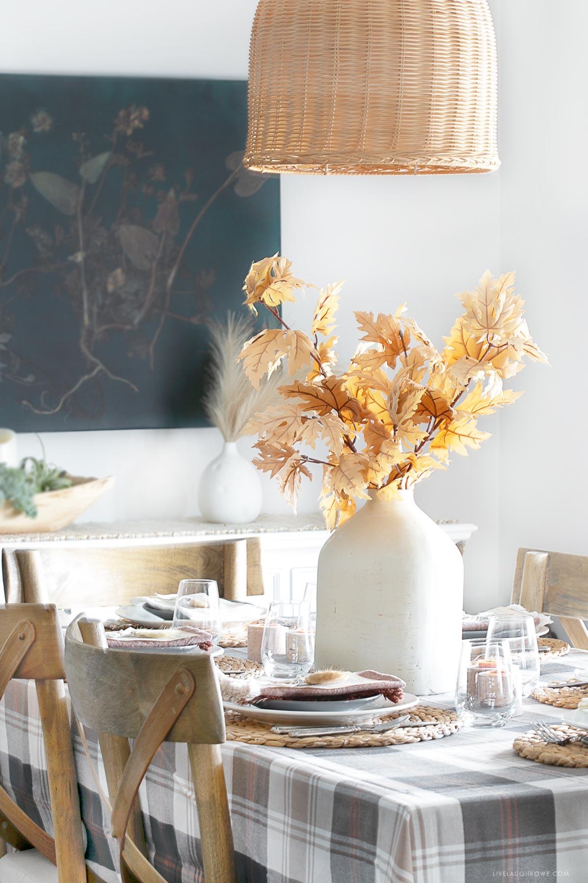 Harvest Table Decor