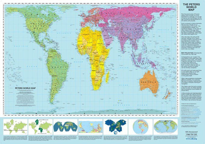 Peters projection world map live learn evolve peters projection world map gumiabroncs Choice Image
