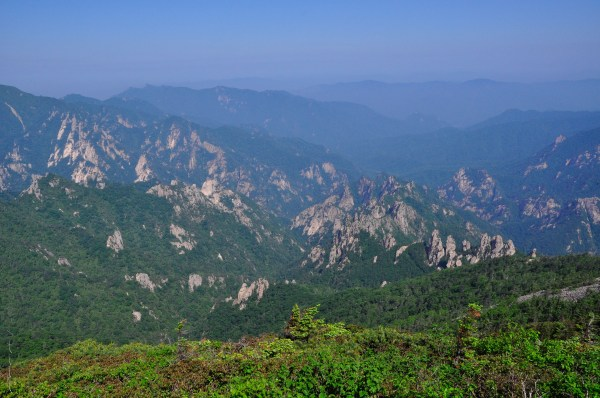 View from the top of Daecheongbong in Seoraksan National Park