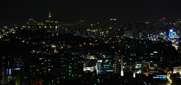 Night view of Seoul from Bukaksan
