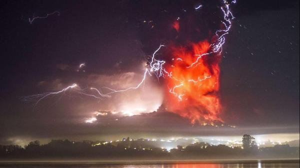 Calbuco volcano April David Cortes Serey