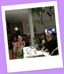 Tonia Buxton demonstrating her passion in Greek cooking.