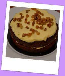 Amazingly fresh and tasty carrot cake
