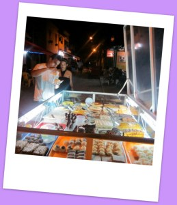 One of the many cake carts on the streets of Ilha Grande