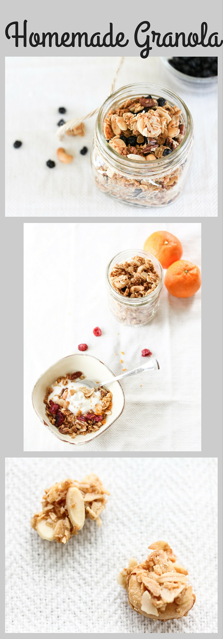 Homemade Granola. So delicious and easy.