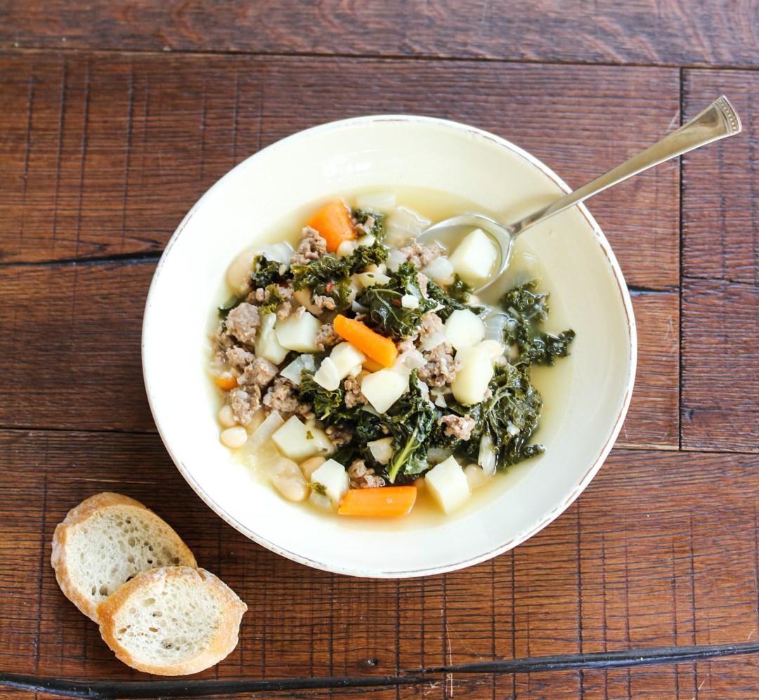 Sausage and Kale Soup Bowl