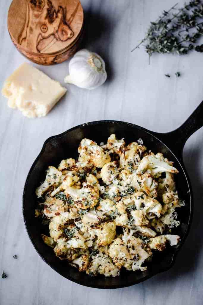 Roast Cauliflower with truffle oil