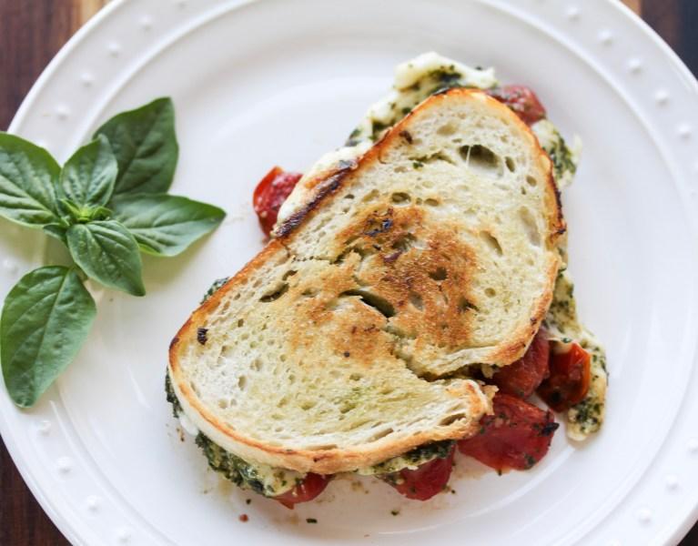 tomato caprese sandwich