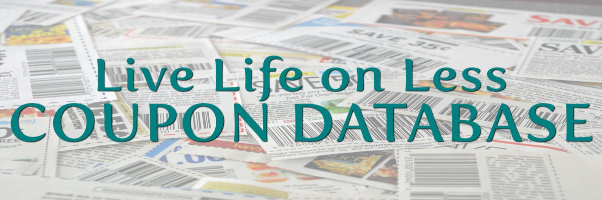 Coupon Database Live Life On Less