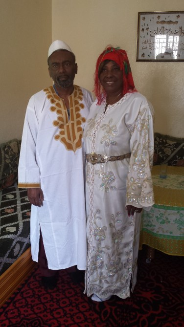 Mom and Dad dressed as Amazighs