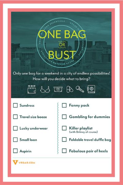 Las Vegas is always a good idea! Find out the 3 essentials you must pack in your suitcase for a trip to Sin City on LiveLiveWellBlog.com