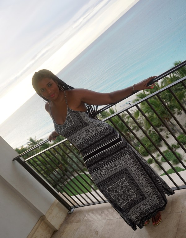 Enjoying the view from the balcony of our condo at the Regent Grand