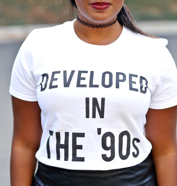 Developed in the 90s t-shirt