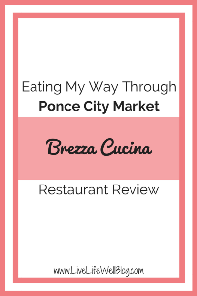 I'm on a mission to try and review every restaurant in Atlanta's Ponce City Market. Read all about my experience at Brezza Cucina on LiveLifeWellBlog.com