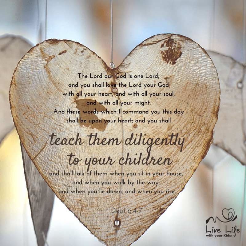 Scripture tells us to teach our children diligently.