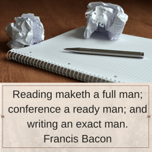 Reading maketh a full man...