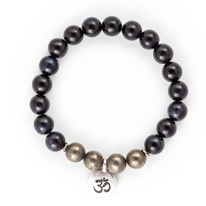Blue Tigers Eye Pyrite Bracelet