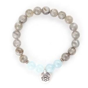 Labradorite & Aquamarine Bracelet