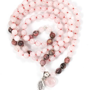 Rose Quartz & Rhodonite Mala