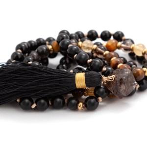 Obsidian & Tigers Eye Mala