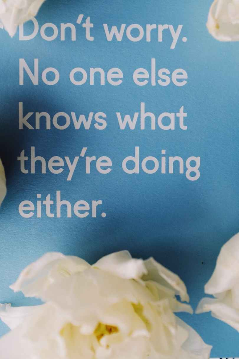 blue card with inspirational message