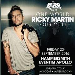 Autism Rocks presents Ricky Martin Tour 2016