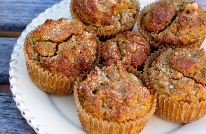anti-inflammatory sweet potato muffins on white plate