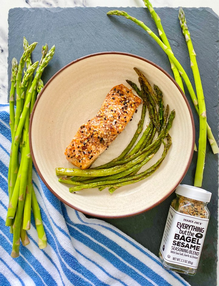 Everything but the Bagel Baked Salmon and Asparagus