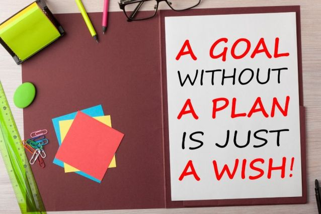 goal without a plan is just a wish, set goals and achieve them this year reach your goals life of your dreams