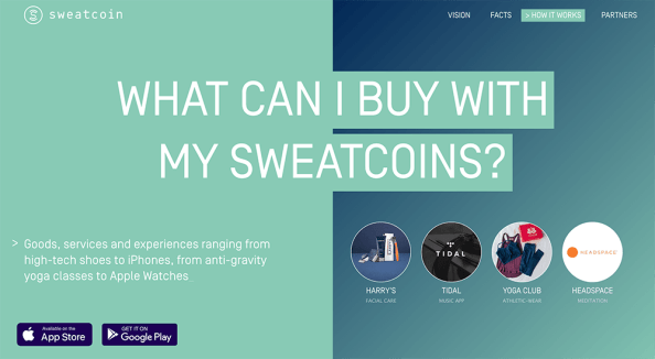 we're Sweatcoin. We want a healthier you on a healthier planet. We achieve this by converting your outdoor steps into a currency to spend on cool products and services