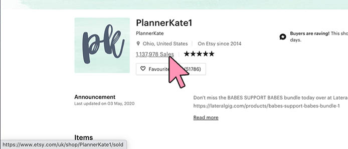 Plannerkate1 top sellers on etsy 2020 best selling products