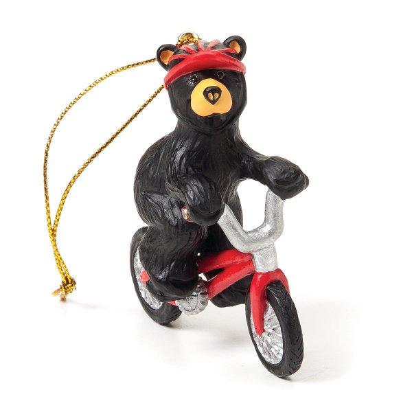 Biking Bear Ornament