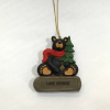 BEAR WITH TREE ORNAMENT