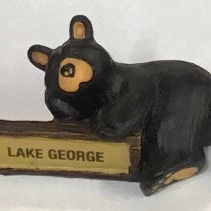 LITTLE SIGN BEAR MINI FIGURINE
