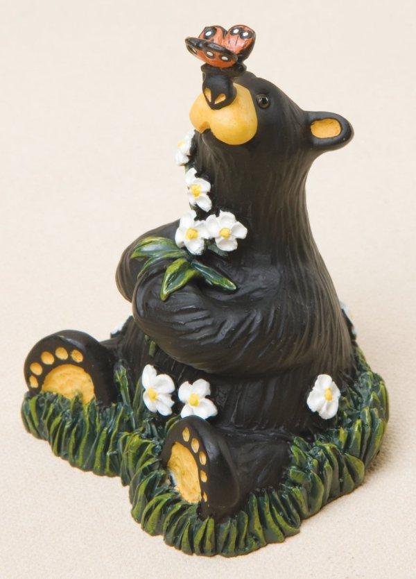 Rachel bear with flowers
