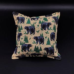 bear print pillow