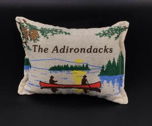 Canoe on Lake with Adks