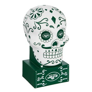 Jets Day of the dead skull