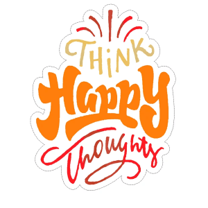 Happy Thoughts decal