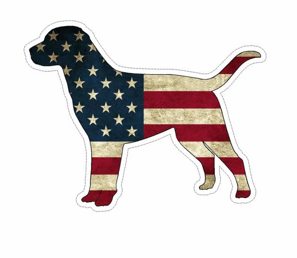 American Flag Dog decal