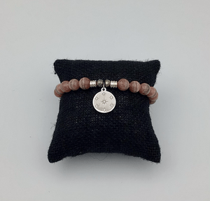 tjazelle Rhodochrosite Stone Bracelet