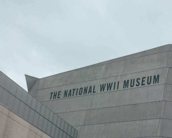 The outside of the National World War II Museum in New Orleans