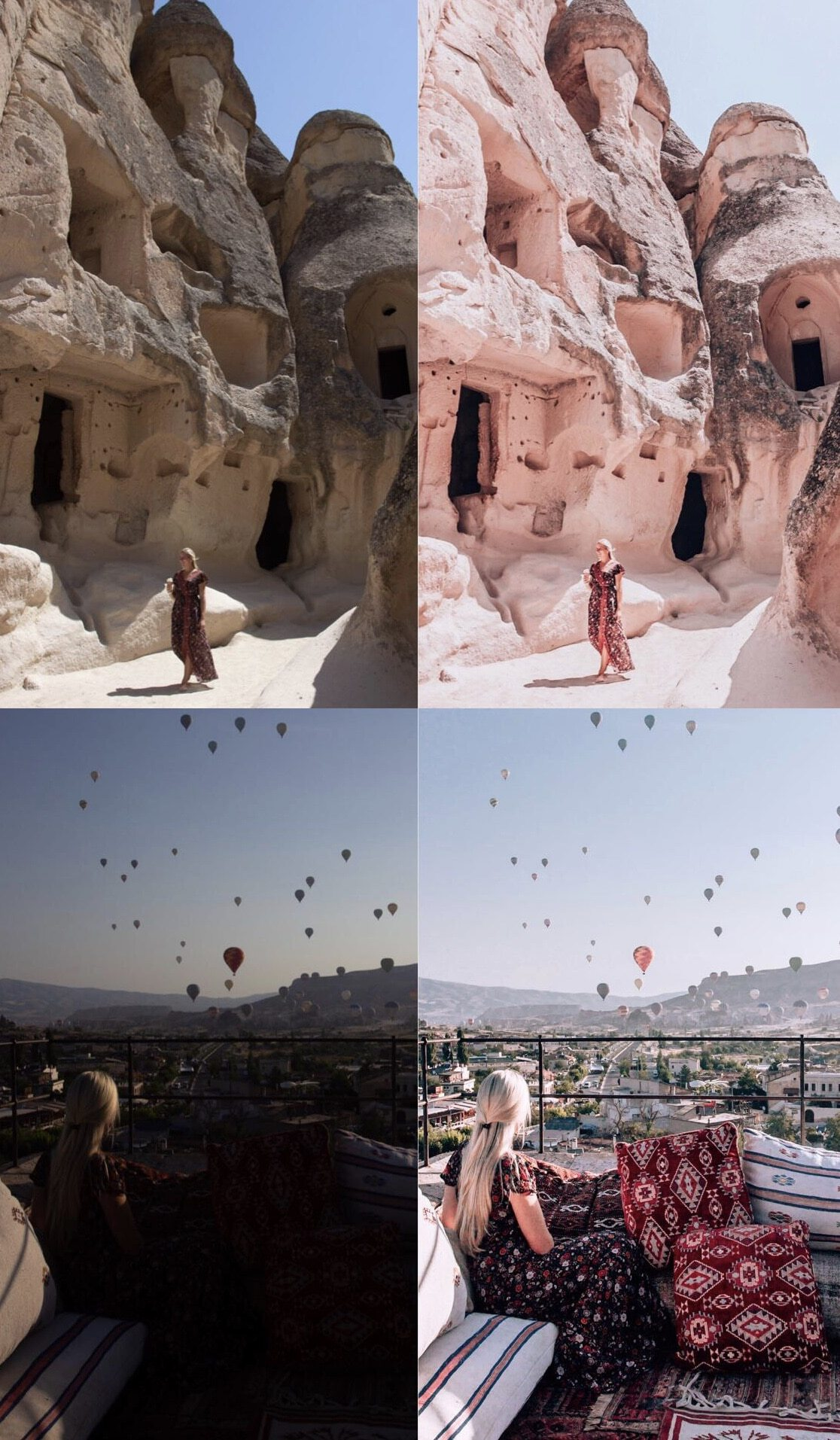 Aggie lal @travel_inhershoes presents before and after Lightroom edits
