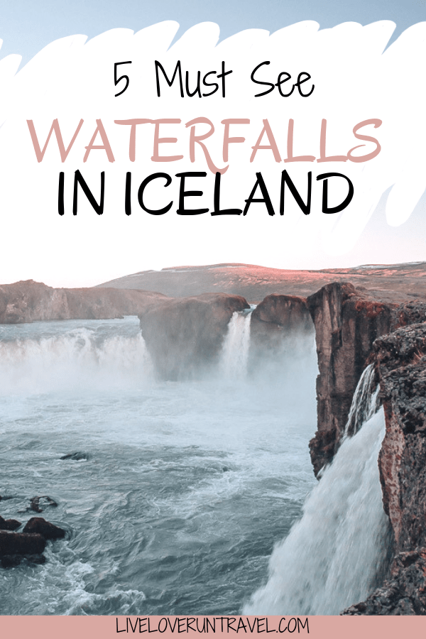 Godafoss in Iceland is one of the top five waterfalls to see on an Iceland Ring Road road trip. Find the top waterfalls in Iceland including where to take pictures of them and when to visit to avoid the crowds. #iceland #icelandwaterfall #icelandroadtrip