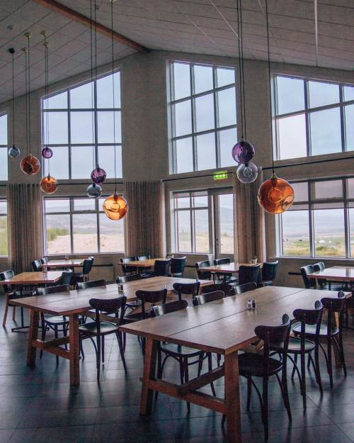 Breakfast area at Hotel Gullfoss on Iceland's Golden Circle. Check out our perfect 6 day itinerary for Ring Road in Iceland!