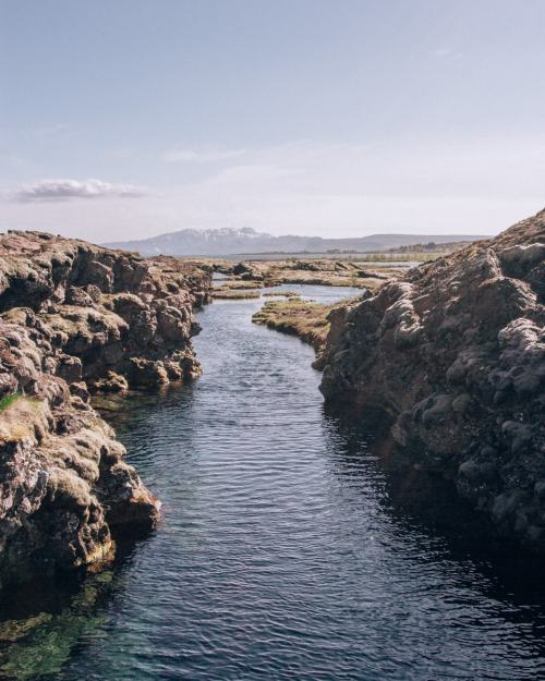 Silfra dive site in Thingvellir National Park. Check out our perfect 6 day Iceland itinerary with a map of all the best stops here!